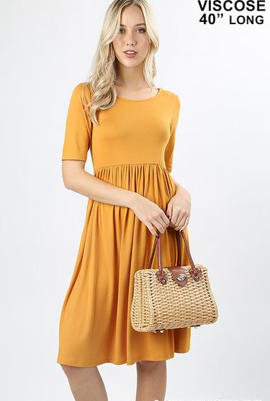 The Softest Mustard Dress Ever