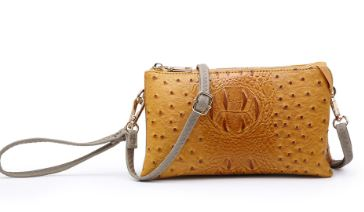 Sale - Croc/Ostric Wristlet/Crossbody Faux