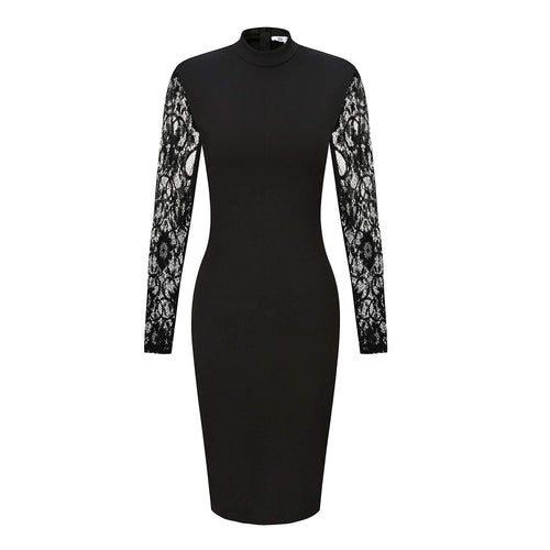 Collins Bodycon Lace Long Sleeves Cocktail Party Dress