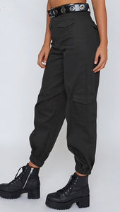 Harem Solid Trousers High Waisted - lotusglam