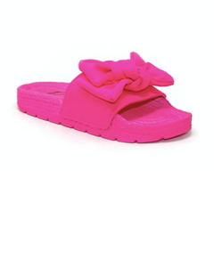 Fucsia Bow Slippers