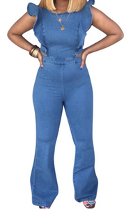 Lucille One Piece Denim Jumpsuit