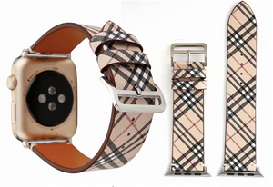 Berry Plaid Apple Watch Band