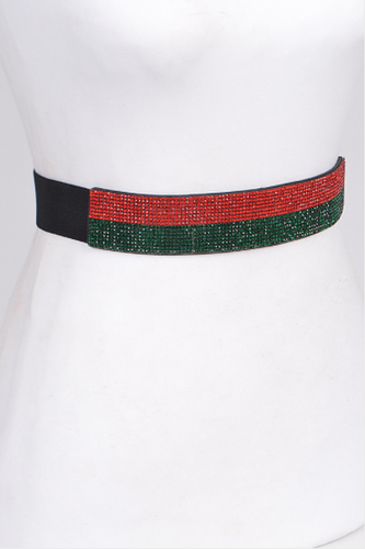 RED/GREEN ELASTIC BELT