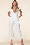 ZETTI V NECK JUMPSUIT