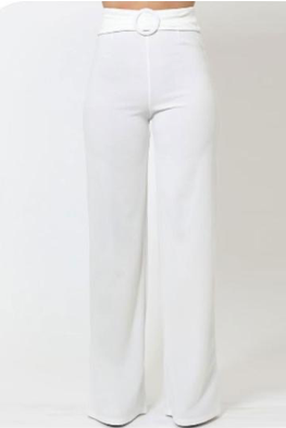 Hailey Circle Buckle High Waist Pants