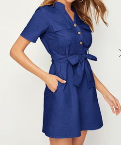 Sierra Casual Buttoned Dress