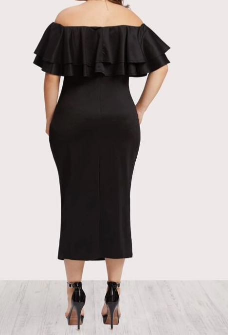 Off the shoulder bodycon plus dress