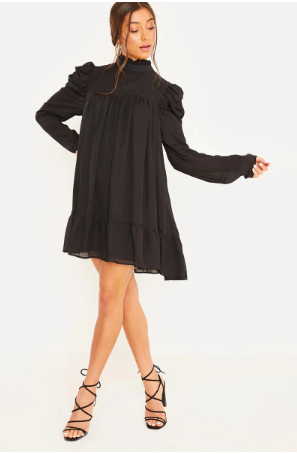 Grace Oversized Puff Sleeves Dress