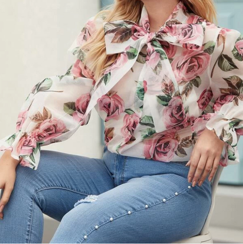 Norah Floral Sheer Blouse