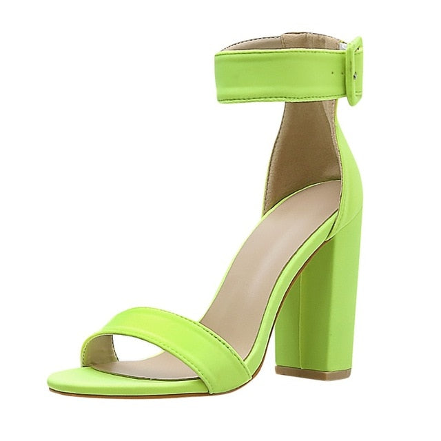 Fashion Girl Square Heeled Sandals - lotusglam