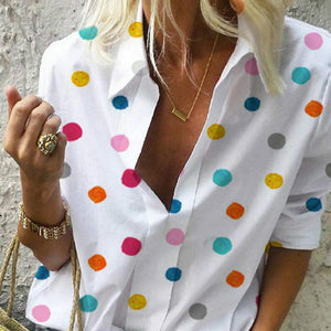 Kimberly Polka Dot Blouse - lotusglam