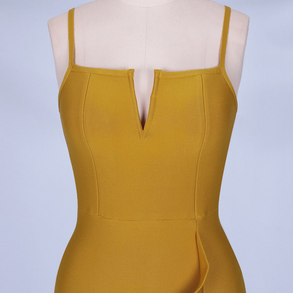 Ginger Vneck Bandage Dress