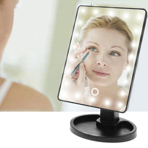 Professional LED Touch Screen Makeup Mirror Luxury Mirror With 16/22 LED Lights 180 Degree Adjustable Table Make Up Mirror - lotusglam
