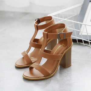 Phoebe thick heels sandals - lotusglam