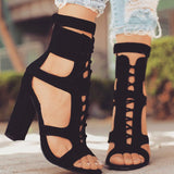 Ankle Strap Platform Sandals - lotusglam