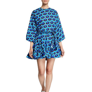 Sophie Color Print Dress - lotusglam