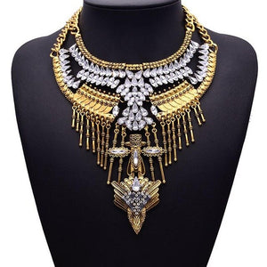 Nefertiti Necklace Chain Charm Choker - lotusglam