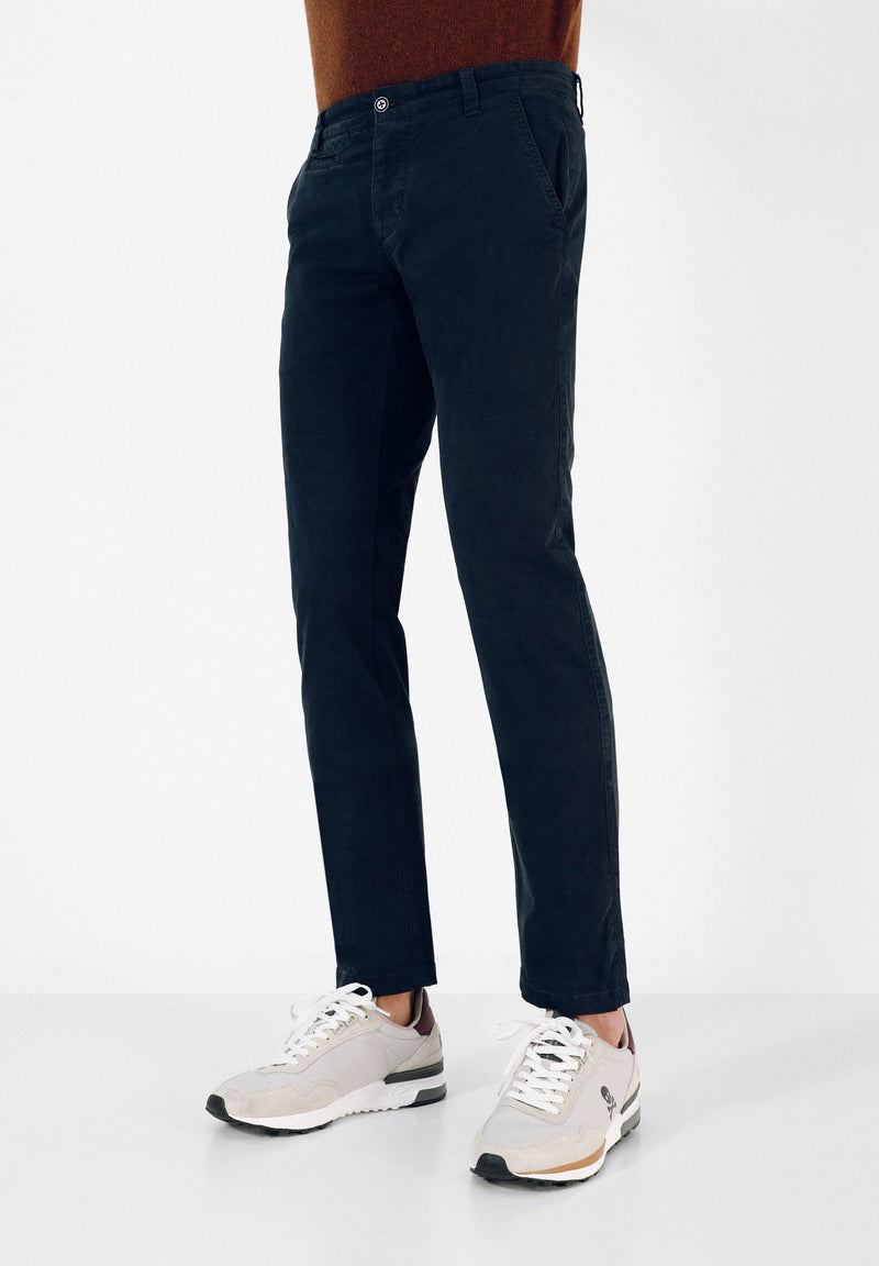 DYED COTTON CHINO TROUSERS