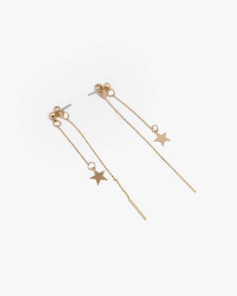 CHAIN AND STAR EARRINGS