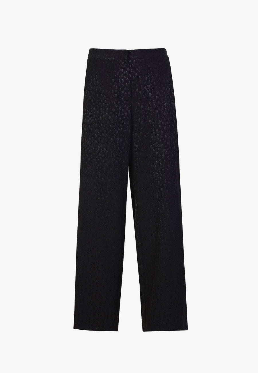 JACQUARD TROUSERS WITH SKULLS AND STARS