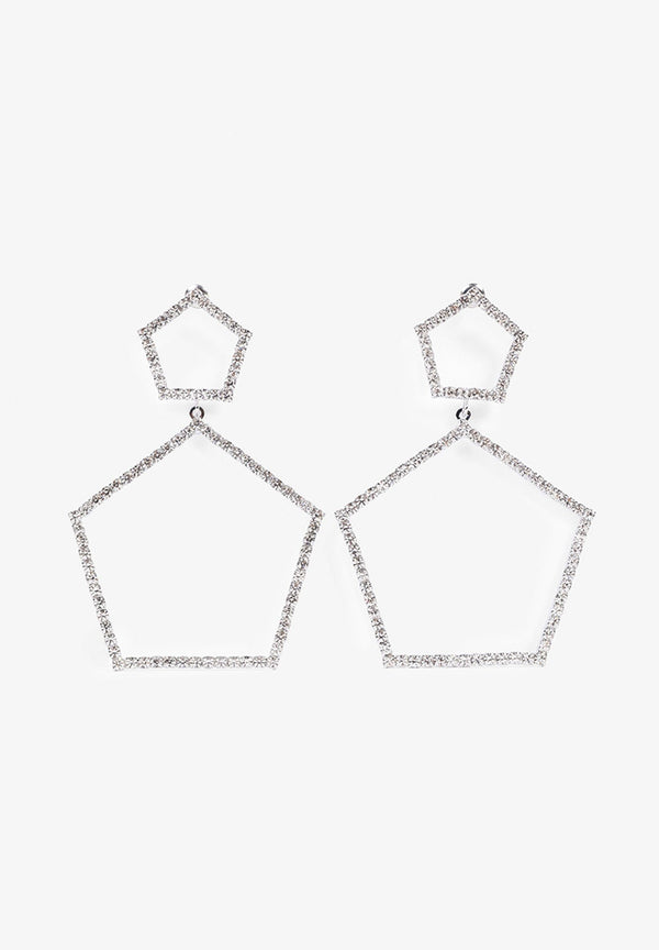 HEXAGONAL GLASS EARRINGS