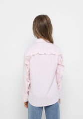 SHIRT WITH RUFFLED BACK