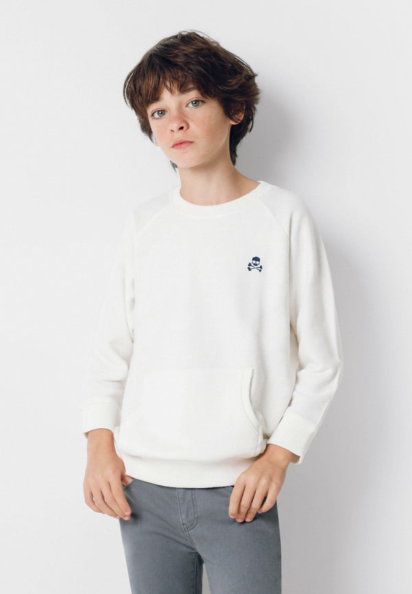 POUCH POCKET SWEATSHIRT WITH BACK PRINT