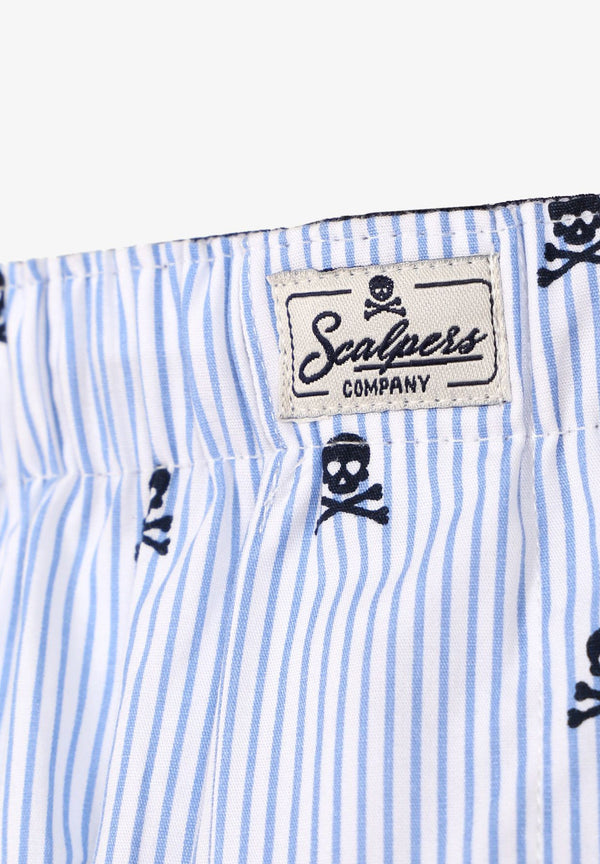 STRIPED SKULL BOXER SHORTS