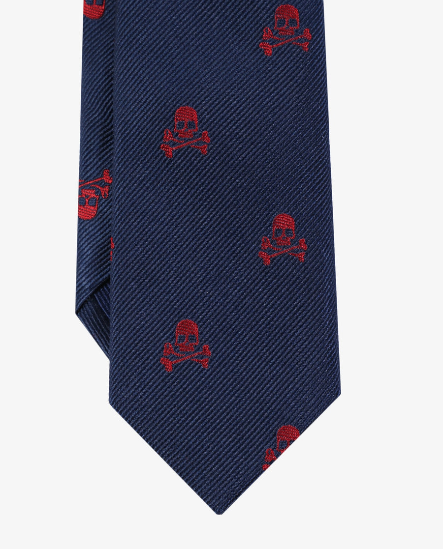 TIE WITH SKULL ALL-OVER-PRINT