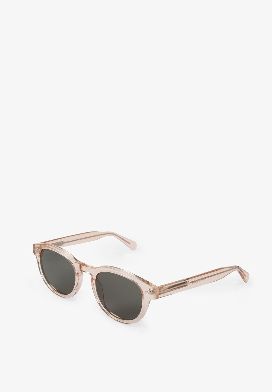 CLEAR-FRAMED SUNGLASSES