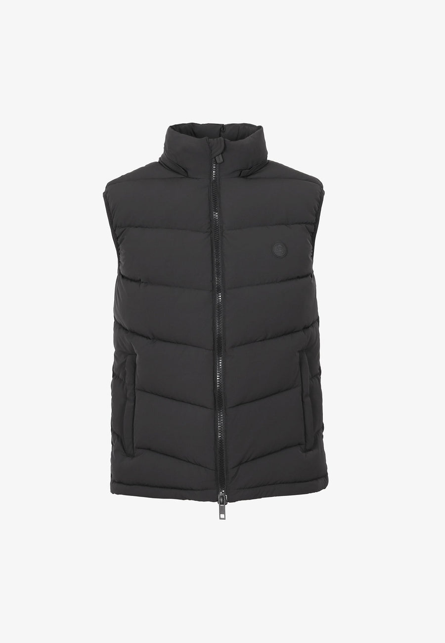 PUFFER VEST WITH HIDDEN HOOD