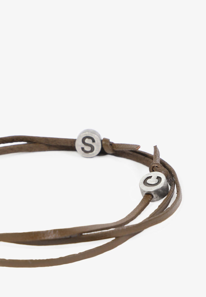 LEATHER BRACELET WITH SKULL