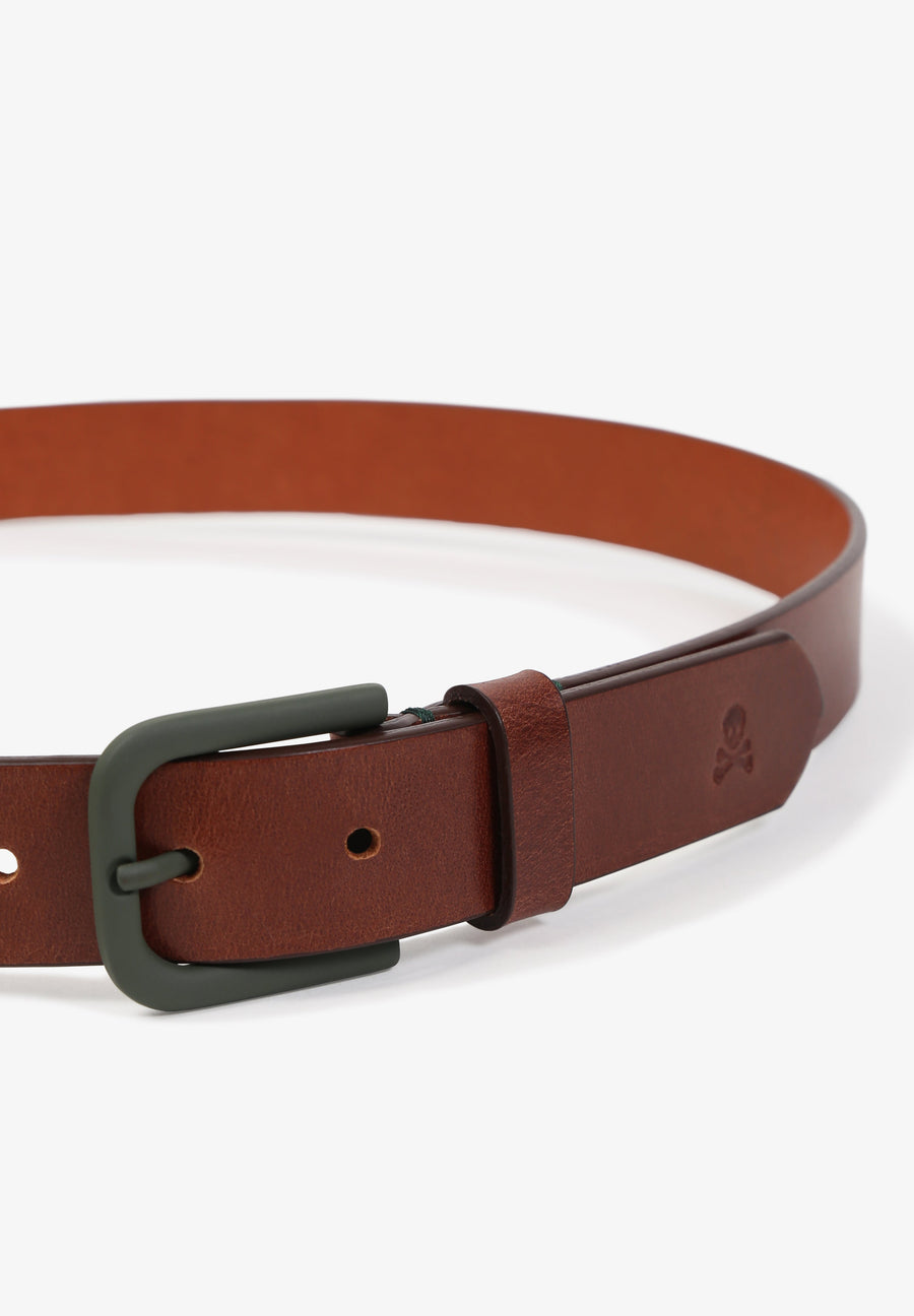 BELT WITH CONTRAST BUCKLE