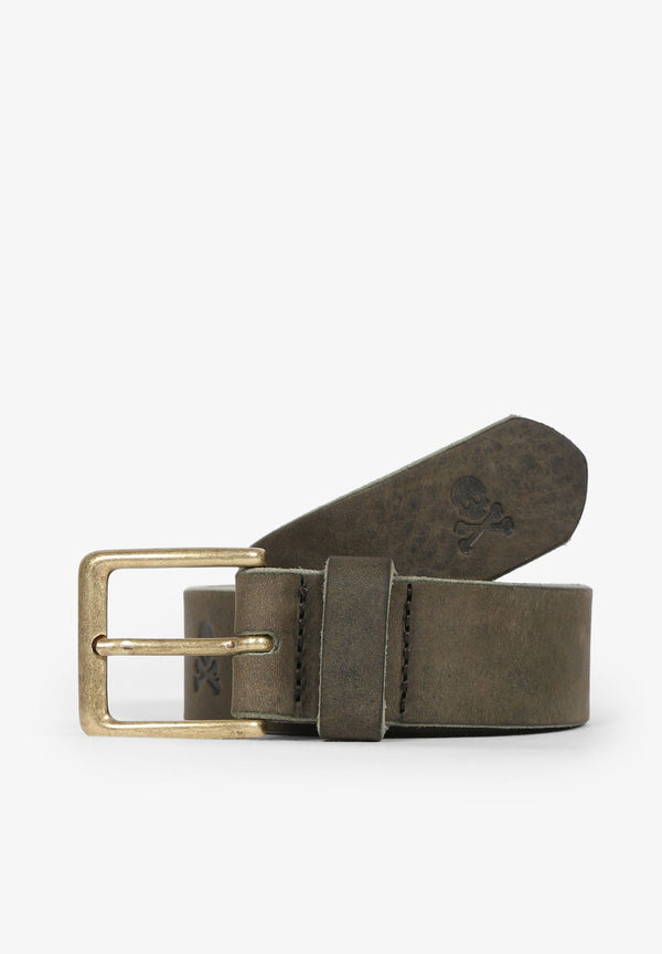 LEATHER BELT WITH SKULL