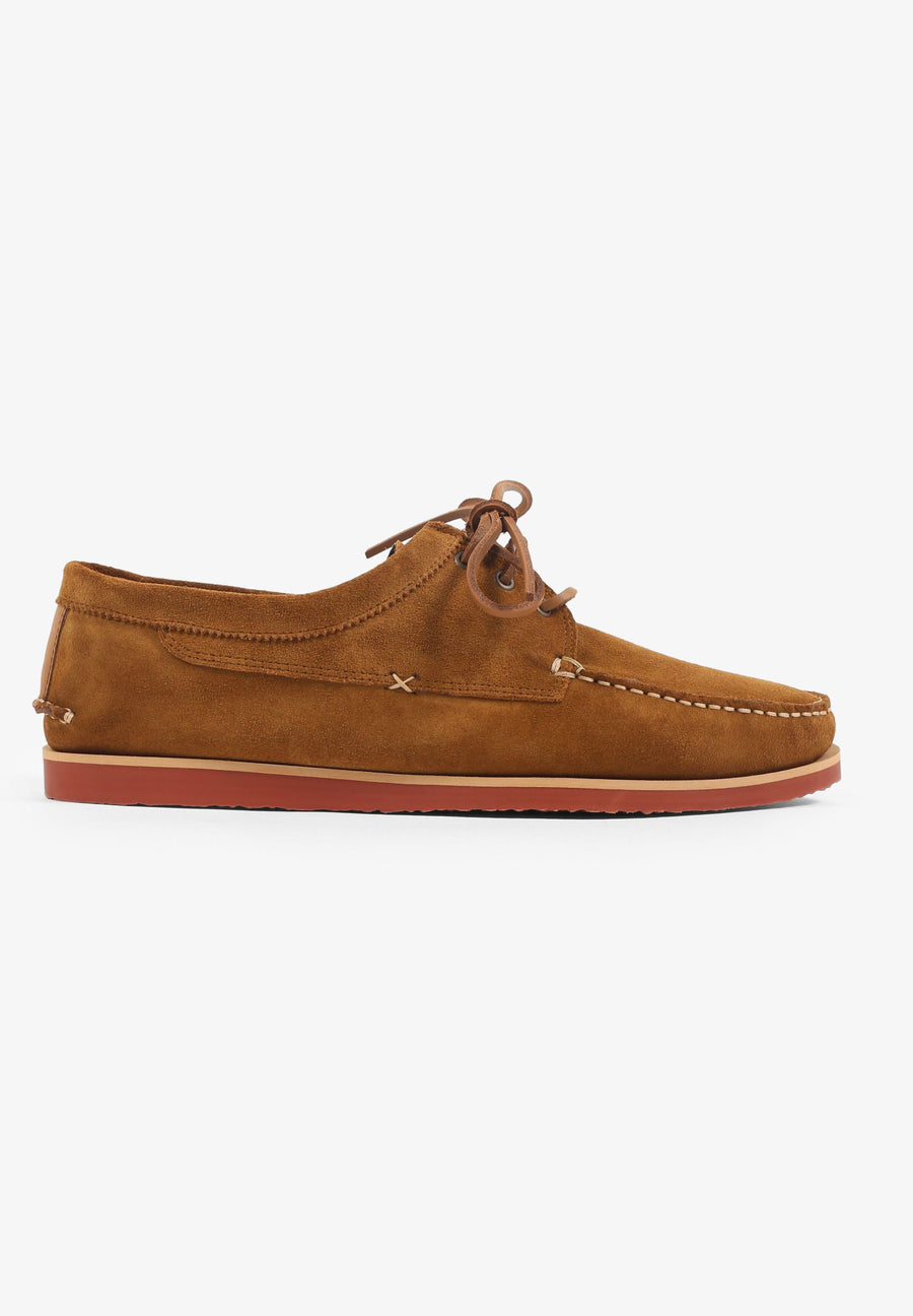 TOPSTITCHING SUEDE SHOES
