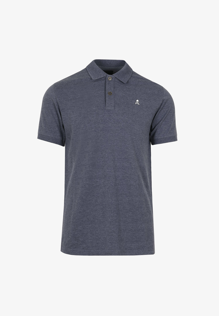 HEATHERED FABRIC POLO SHIRT