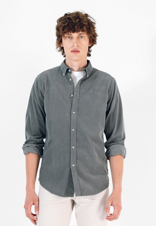 CORDUROY SHIRT WITH BUTTON-DOWN COLLAR