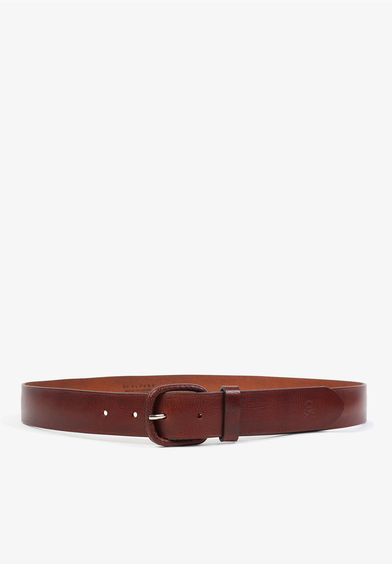 BELT WITH LEATHER BUCKLE