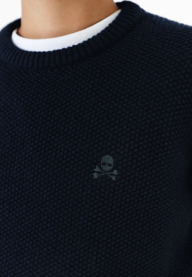 SWEATER WITH CONTRAST SKULL
