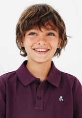 POLO SHIRT WITH EMBROIDERED SKULL