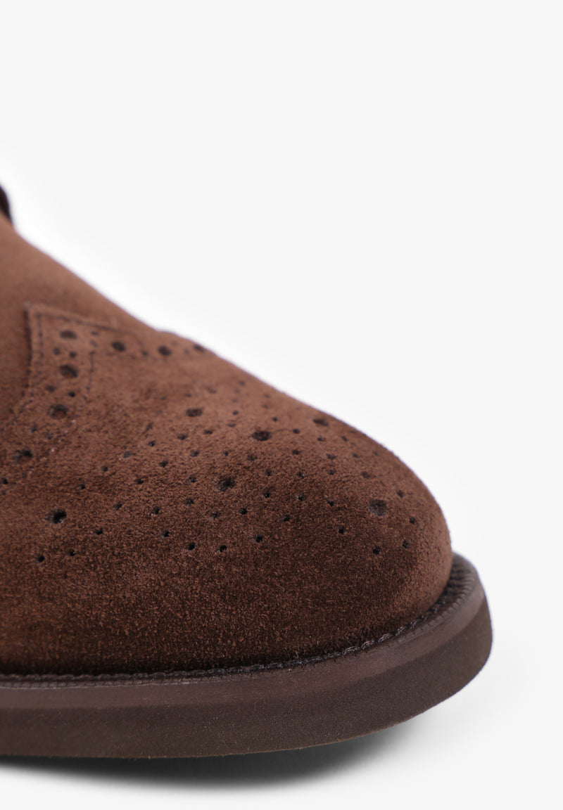 DOUBLE MONK SUEDE SHOES