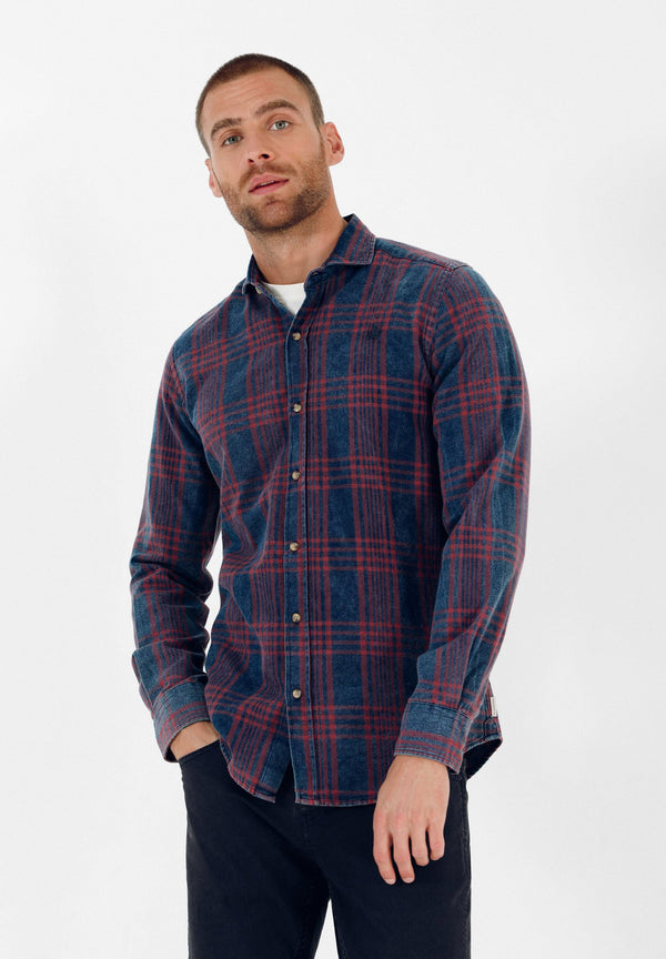 CHECKED SHIRT WITH SKULL