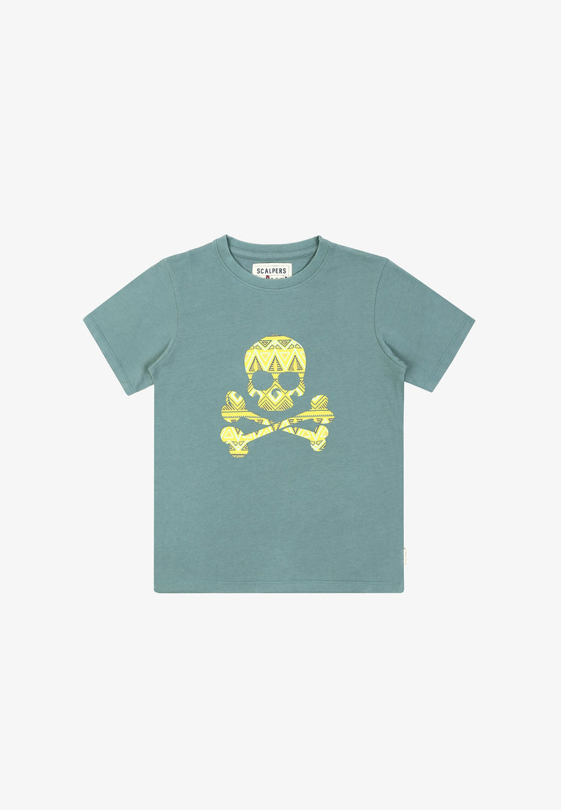 ETHNIC T-SHIRT WITH SKULL