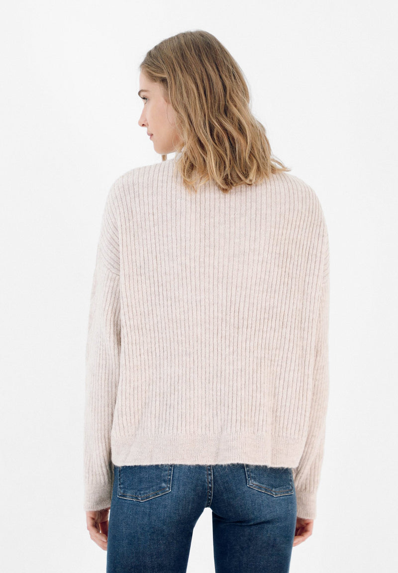 KNIT SWEATER WITH ZIP
