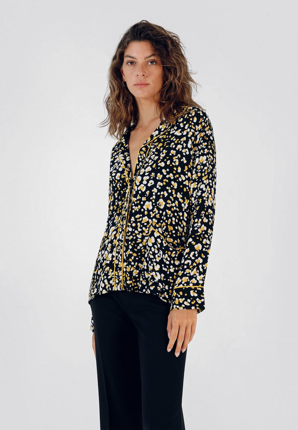 ANIMAL PRINT PYJAMA-STYLE SHIRT