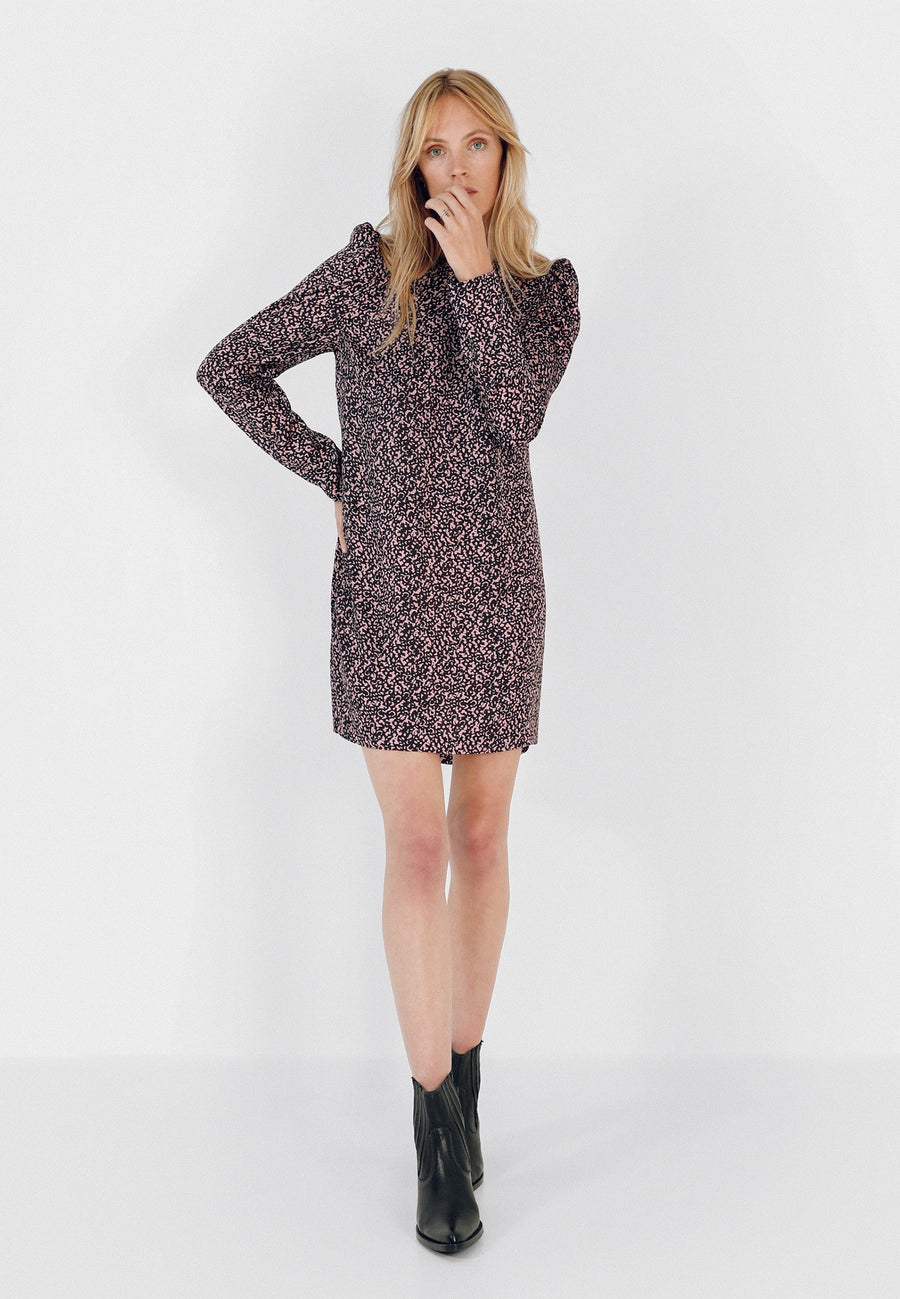 ANIMAL PRINT MINI DRESS