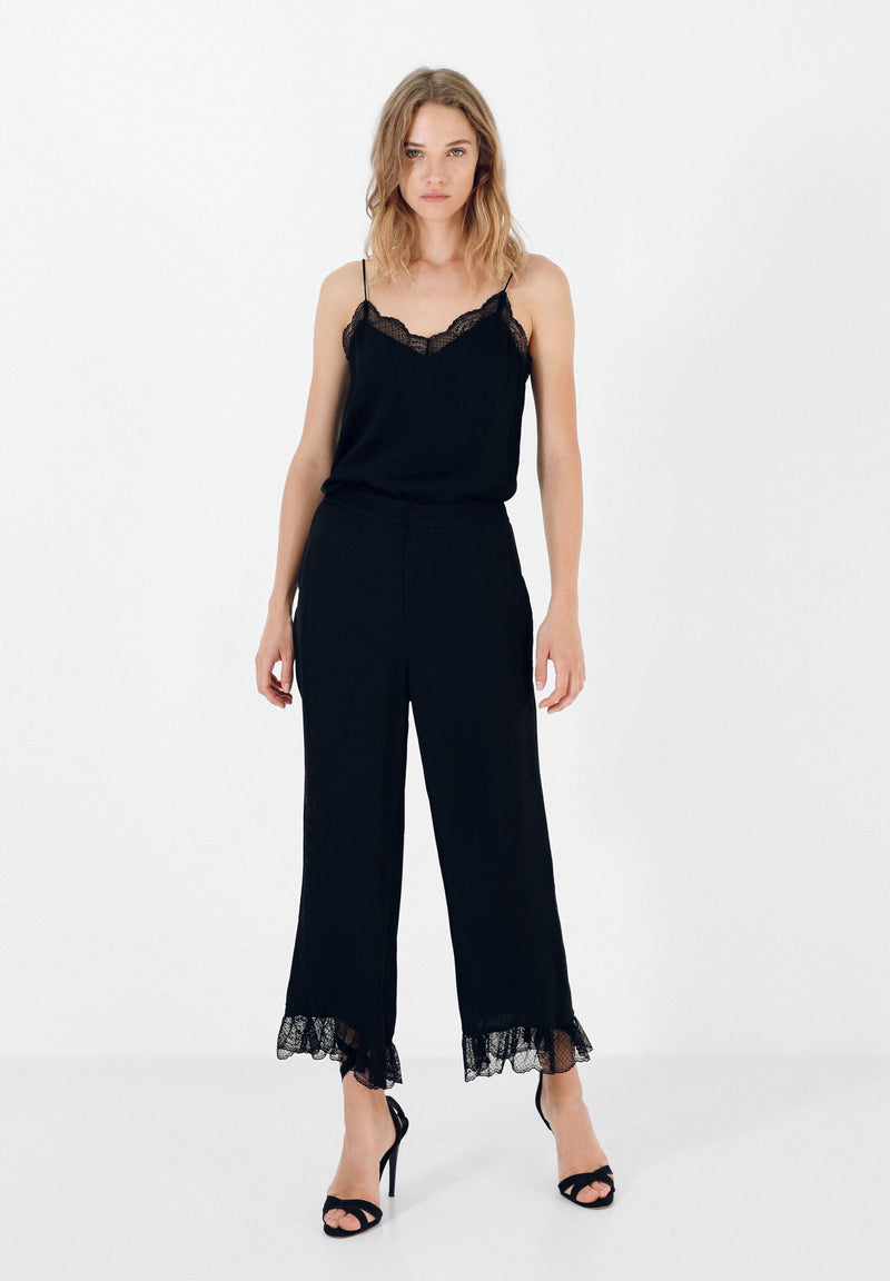 FLOWING LACE TROUSERS
