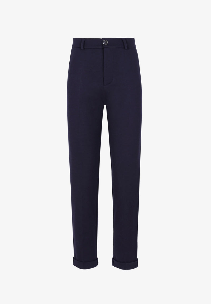 KNIT CHINO TROUSERS