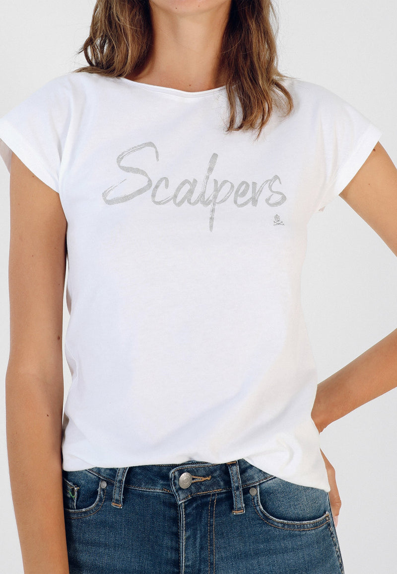 SCALPERS T-SHIRT WITH GLITTER